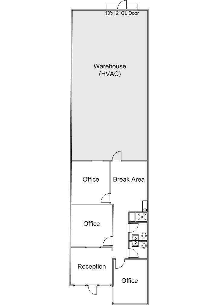 Floor Plan 609 N. Poplar Street