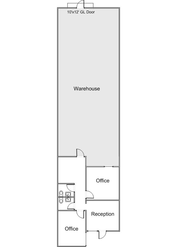 Floor Plan for 615 N. Poplar St.