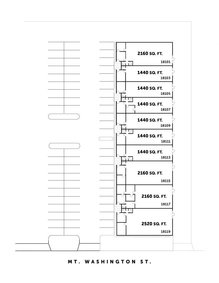Site Plan 18101-18119 Mt. Washington