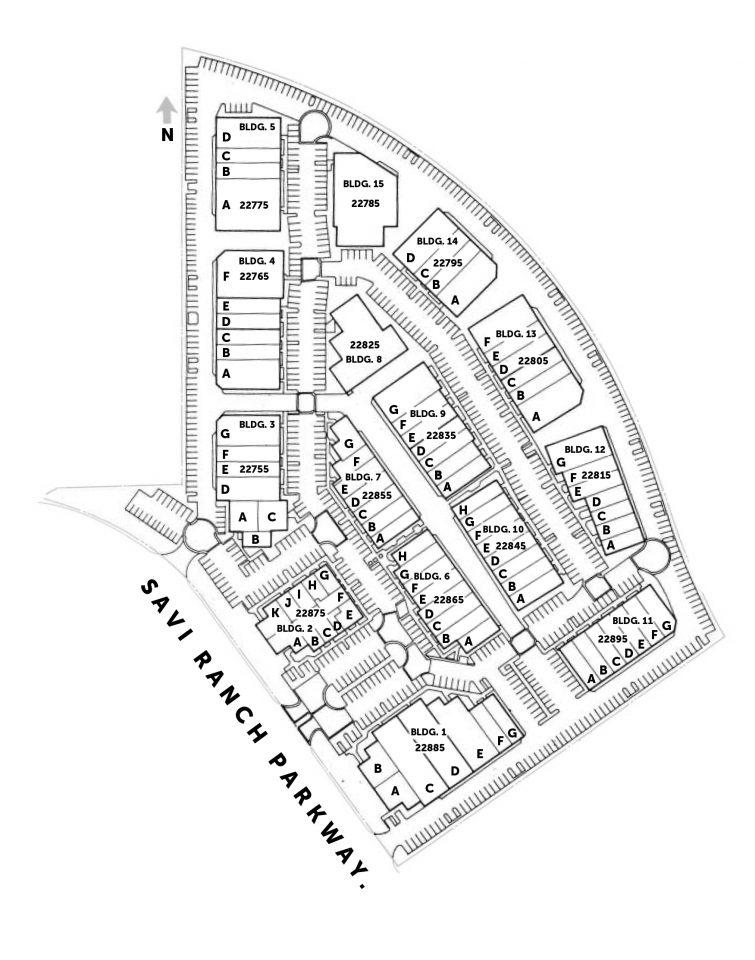 Site Plan 22755-22895 Savi Ranch Parkway