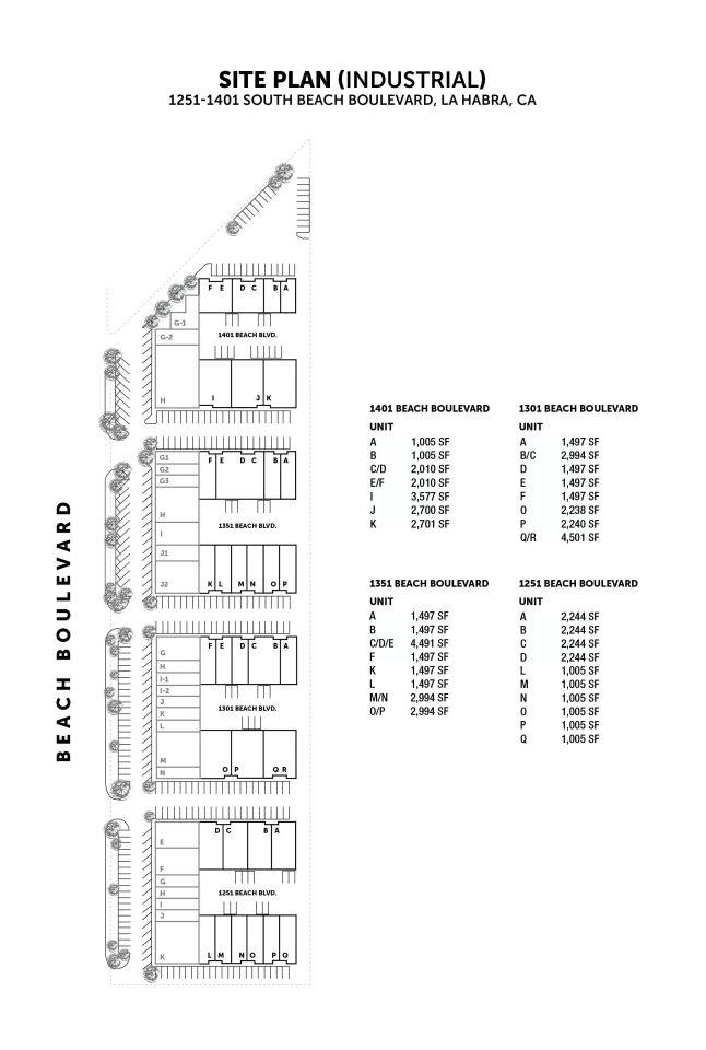 Industrial Site Plan 1301 - 1401 S. Beach Blvd.