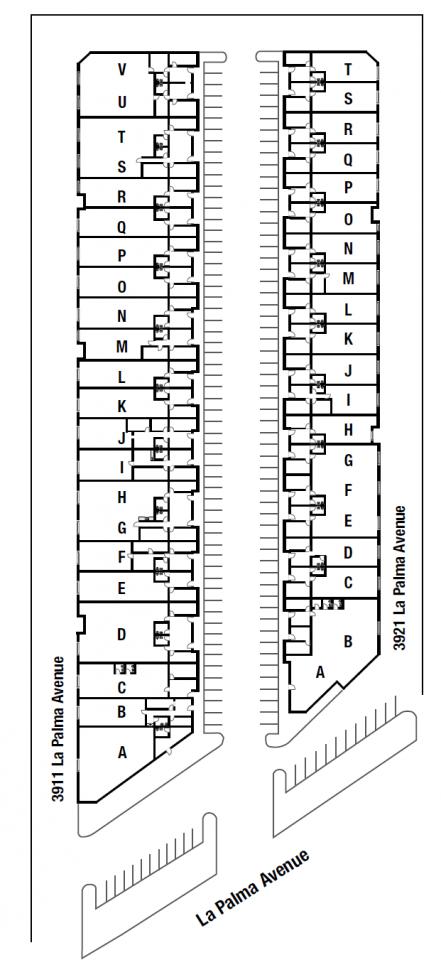 3911-3921 E. La Palma Site Plan