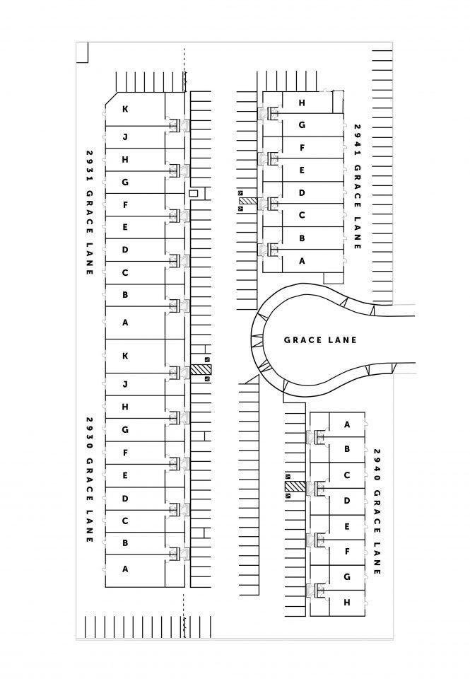 Site Plan 2930-2941 Grace Lane