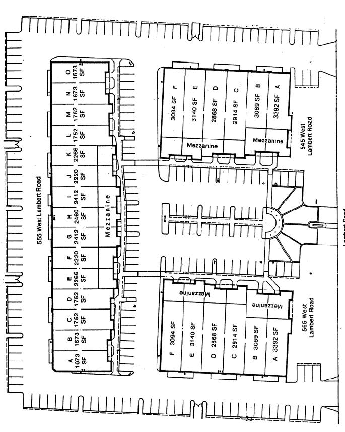 Site Plan 545-565 Lambert