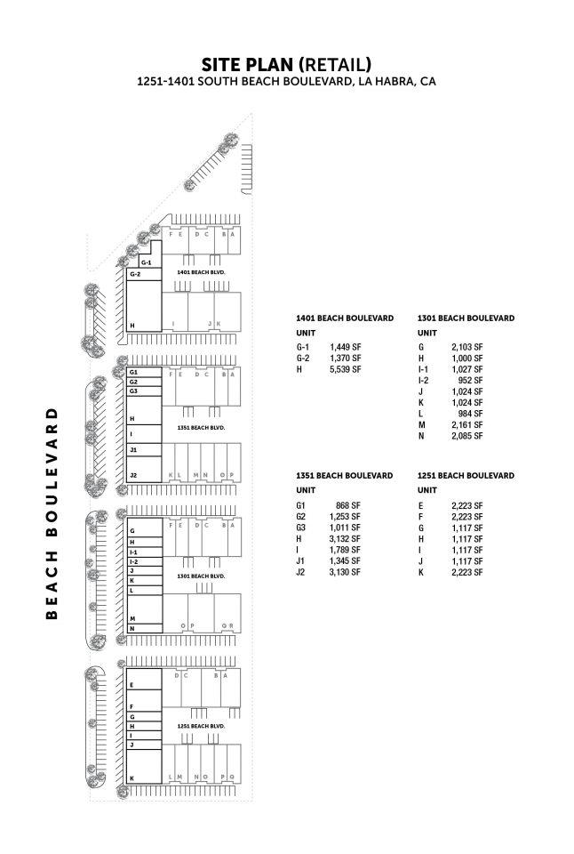 Retail Site Plan 1301 - 1401 S. Beach Blvd.