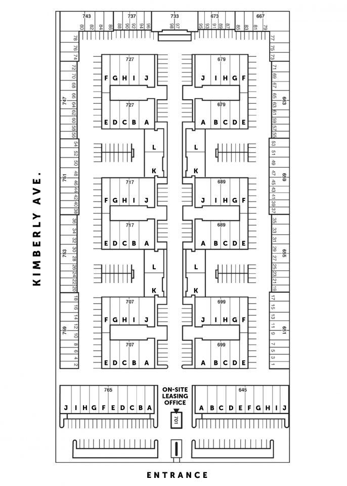 Site Plan 645-765 S. State College Blvd.